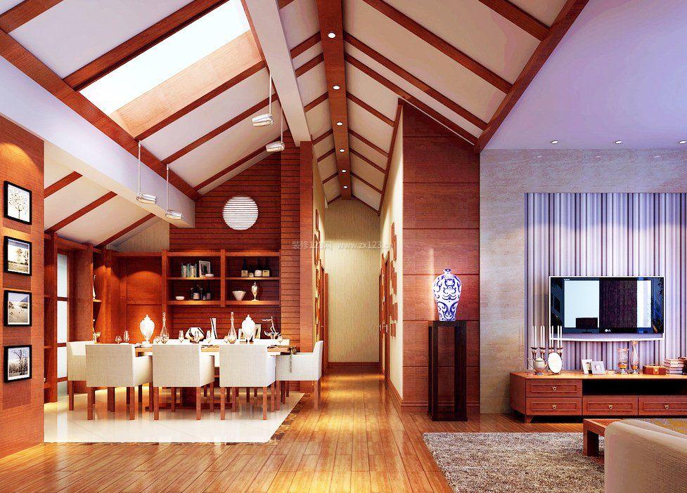 阁楼餐厅走廊吊顶装修效果图