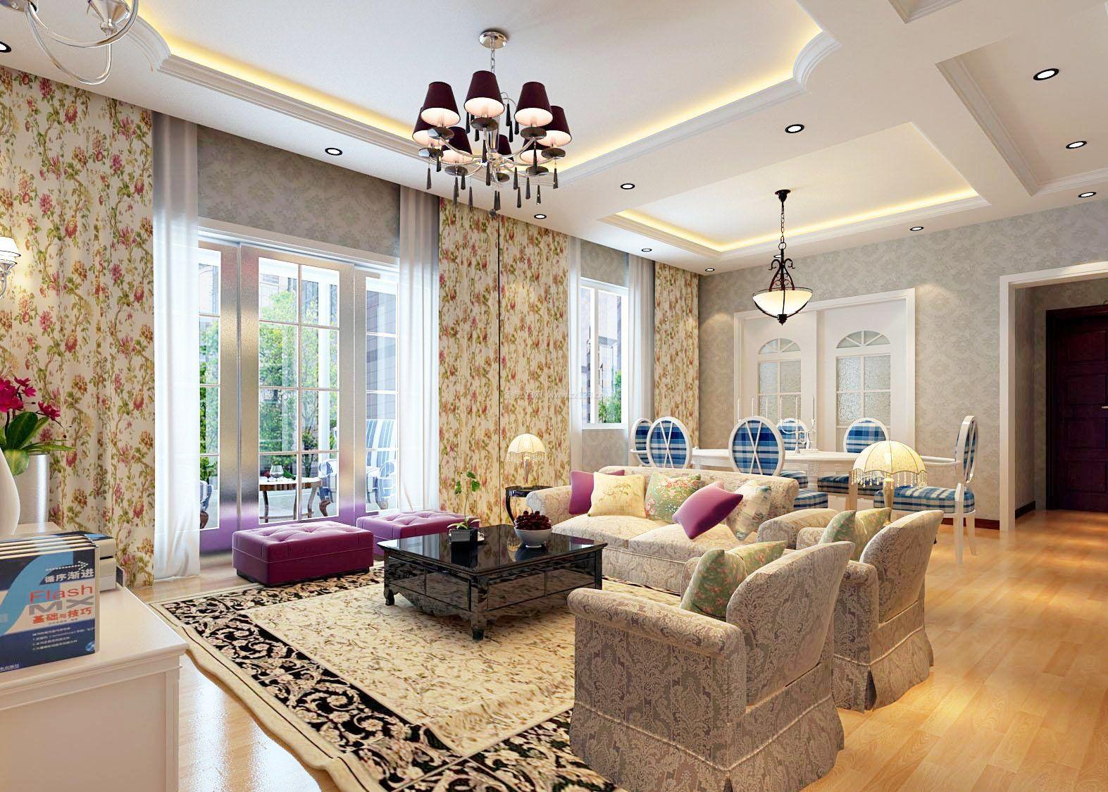 室内客厅设计图吊顶展示