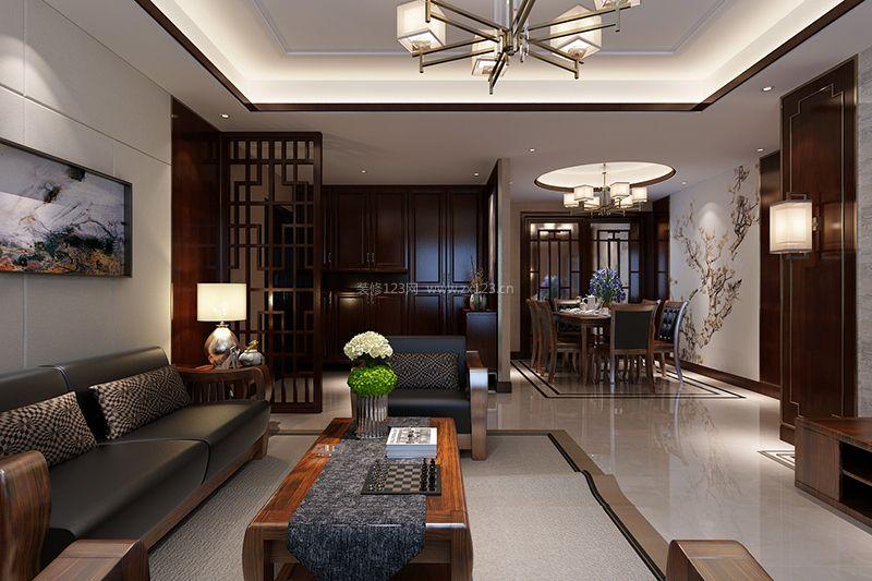 137平米房子简约中式风格装修效果图片