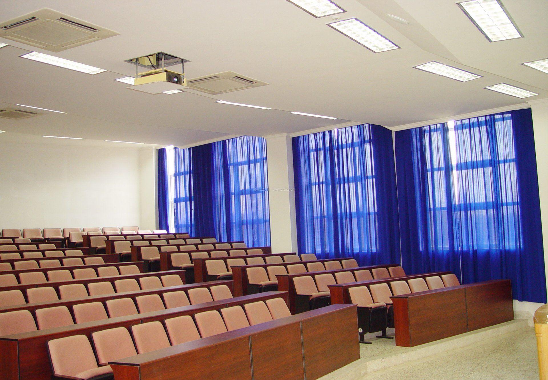 阶梯教室课桌椅设计图片