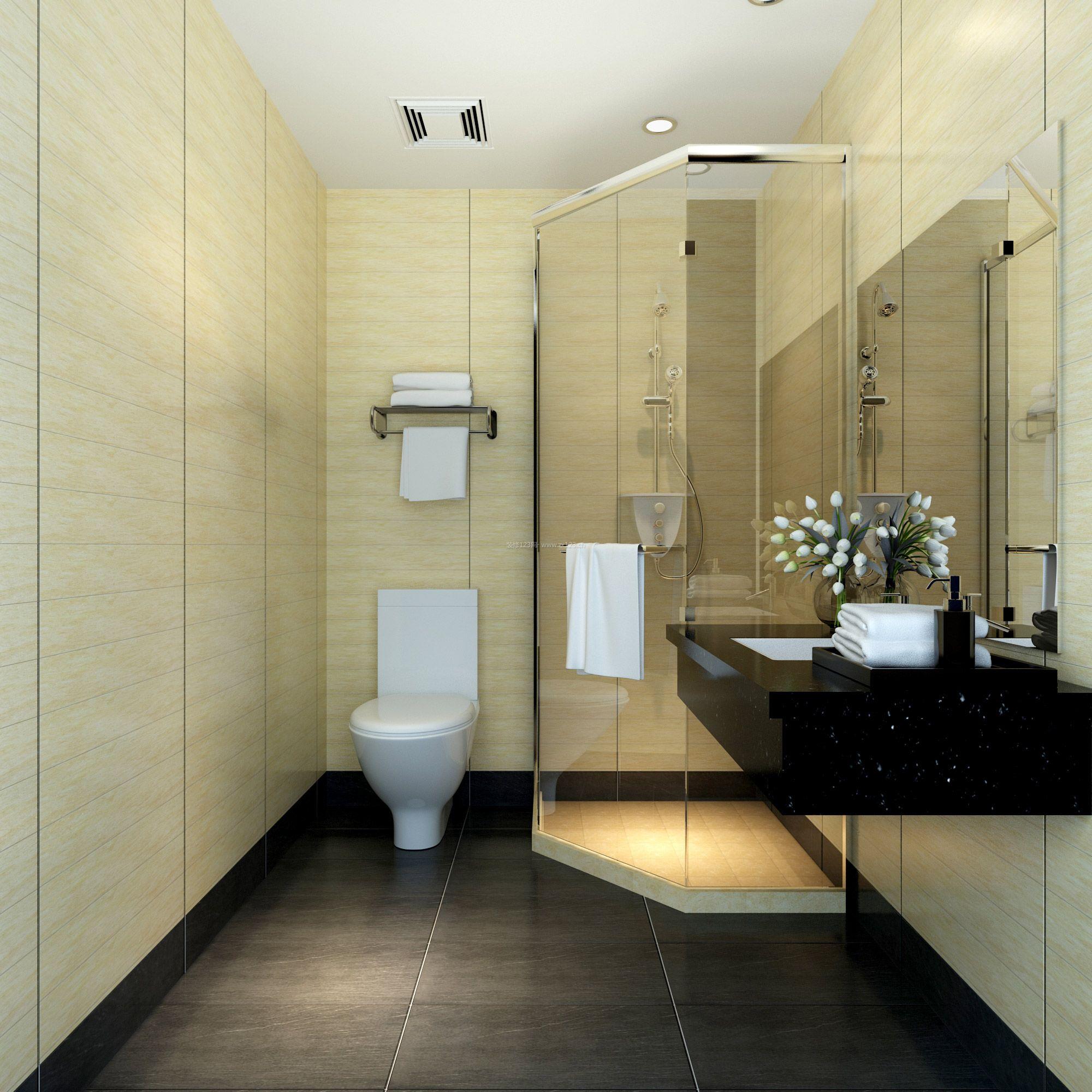 最新宾馆标间卫生间装修效果图
