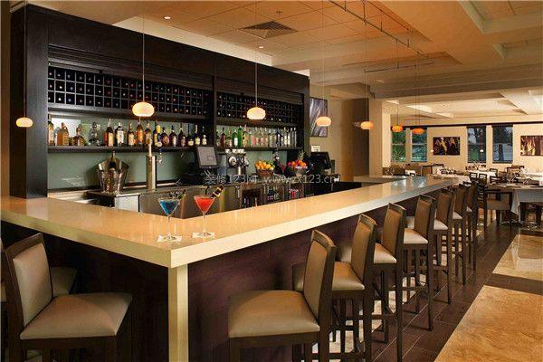 咖啡厅吧台装修设计效果图