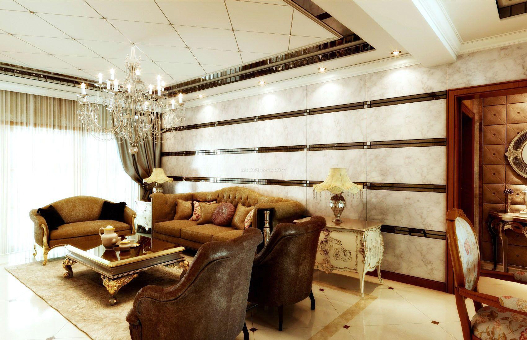 客厅欧式复古装修效果图片欣赏图片