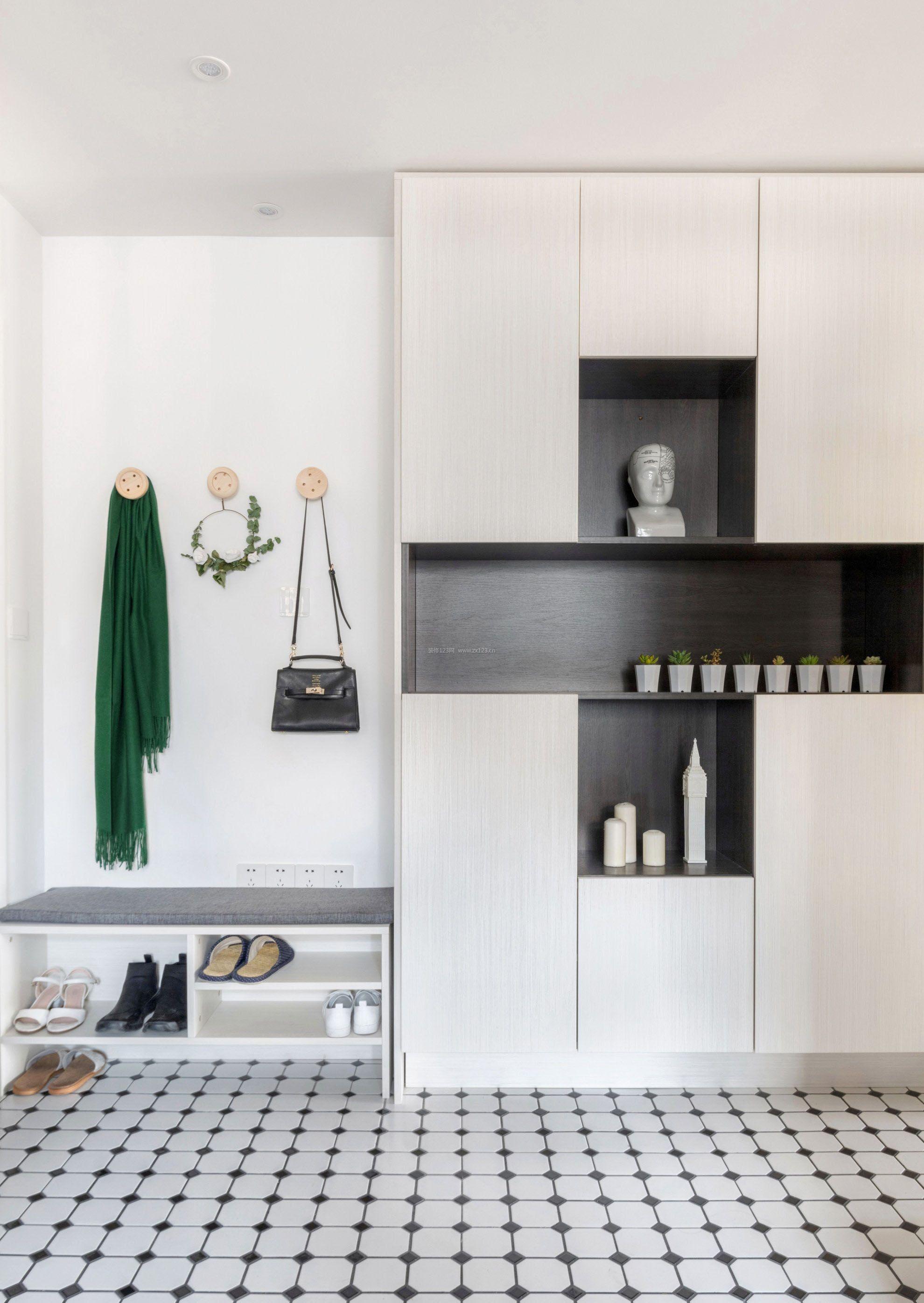 三室两厅进门鞋柜创意装修效果图