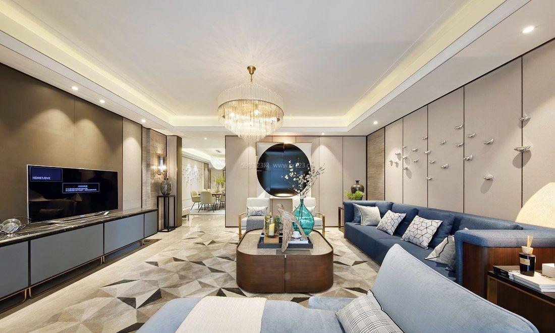 新房装修设计新中式客厅效果图大全图片