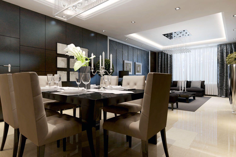 一套冷紫色系的室内餐厅手绘效果图马克笔教程