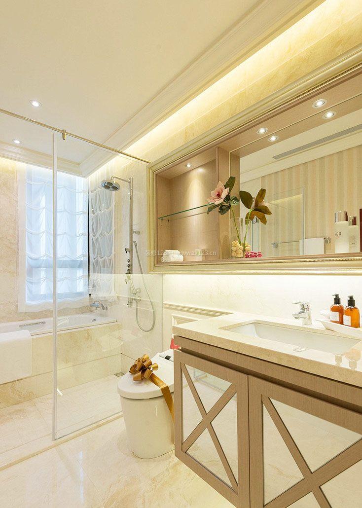 三室一厅房子卫生间浴室装修图片大全_装修123效果图