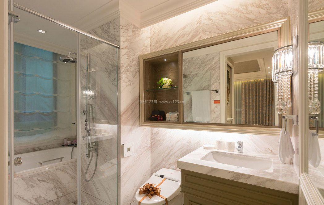 三室一厅房子卫生间镜子装修效果图片