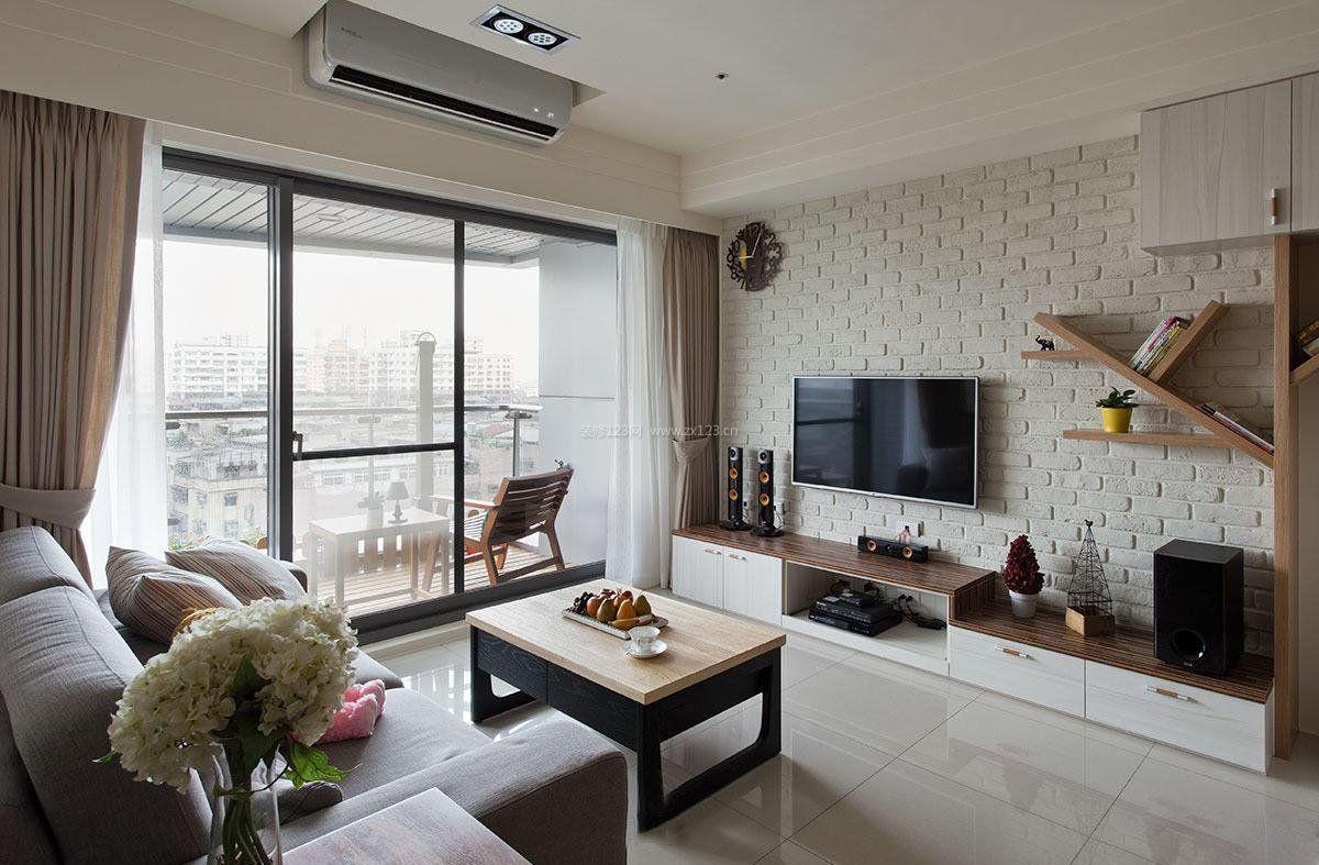 家装室内设计客厅电视墙装饰效果图