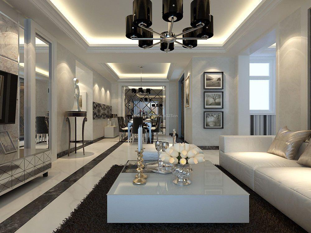 120平米现代简约两室两厅装修效果图欣赏
