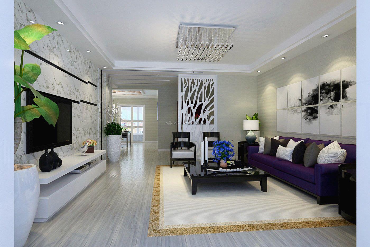 宝鸡 轩苑盛世二期现代风格120平米设计方案 现代样板房装修效果图