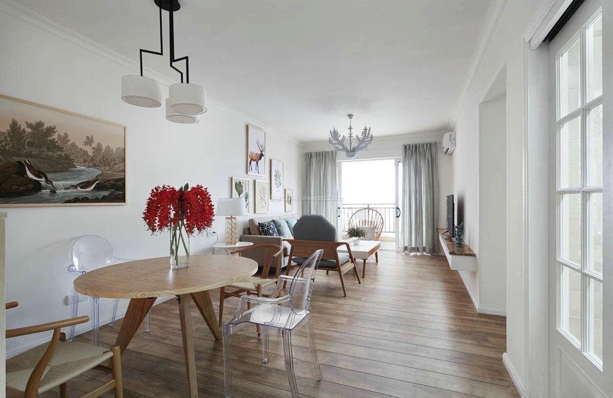 家装室内设计浅色木地板效果图_装修123效果图