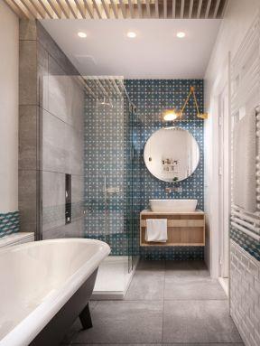 北欧风格卫生间装修效果图 卫生间淋浴房装修效果图
