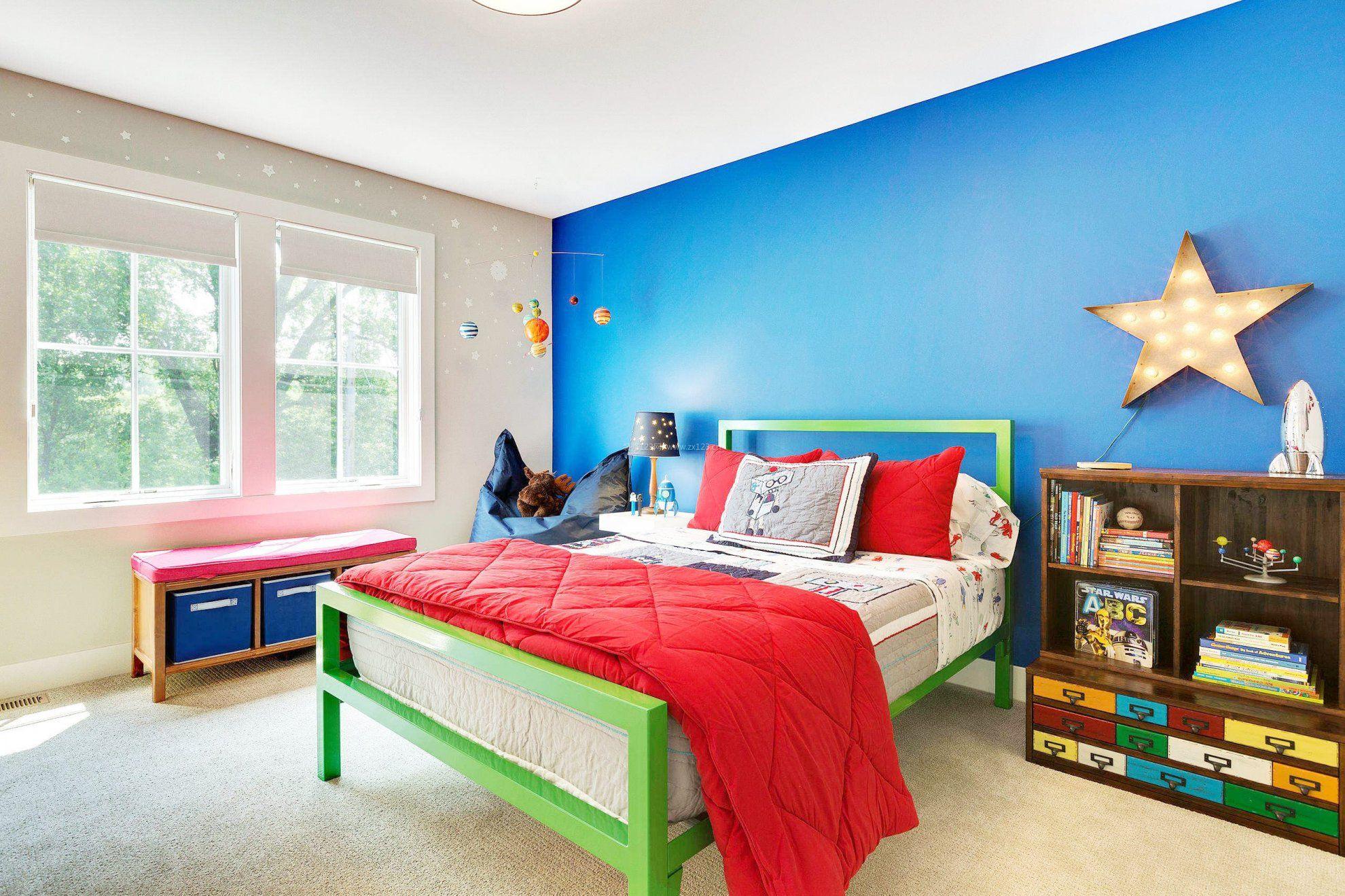 幼儿房间装修墙壁颜色_装修123效果图