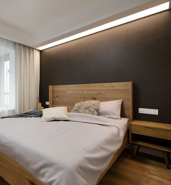 98平米房子卧室背景墙装修效果图