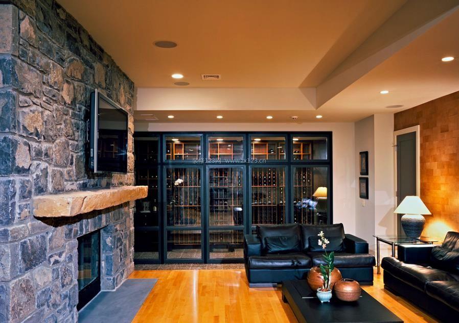 家庭室内酒柜设计效果图片2017