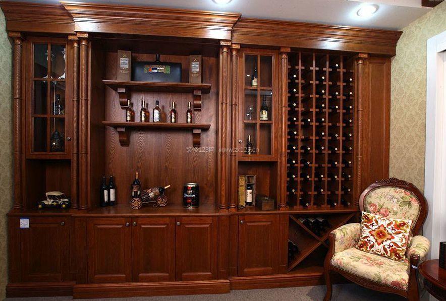 家庭室内酒柜设计装修效果图片2017