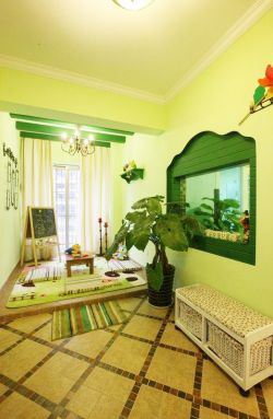 田园风格小清新卧室儿童床设计效果图