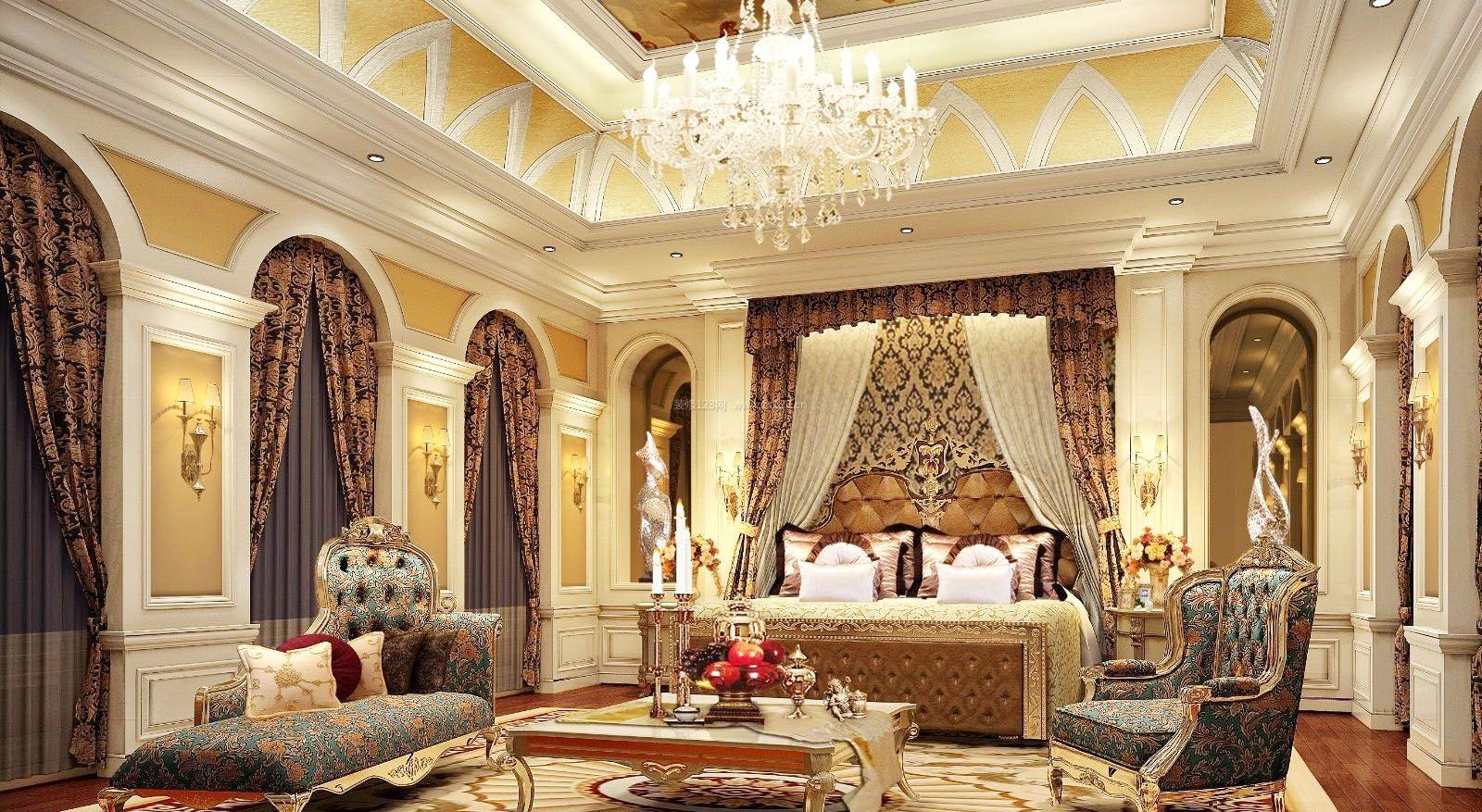 大户型样板房欧式豪华卧室装修图片
