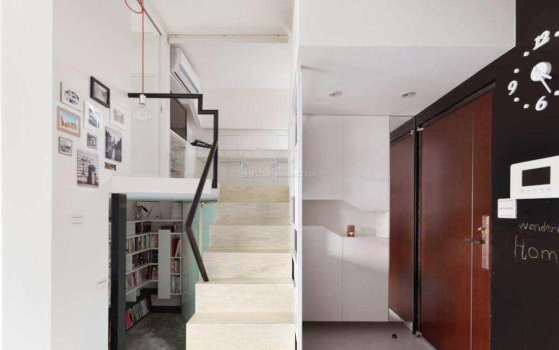 小户型复式房装修样板房玄关隔断效果图