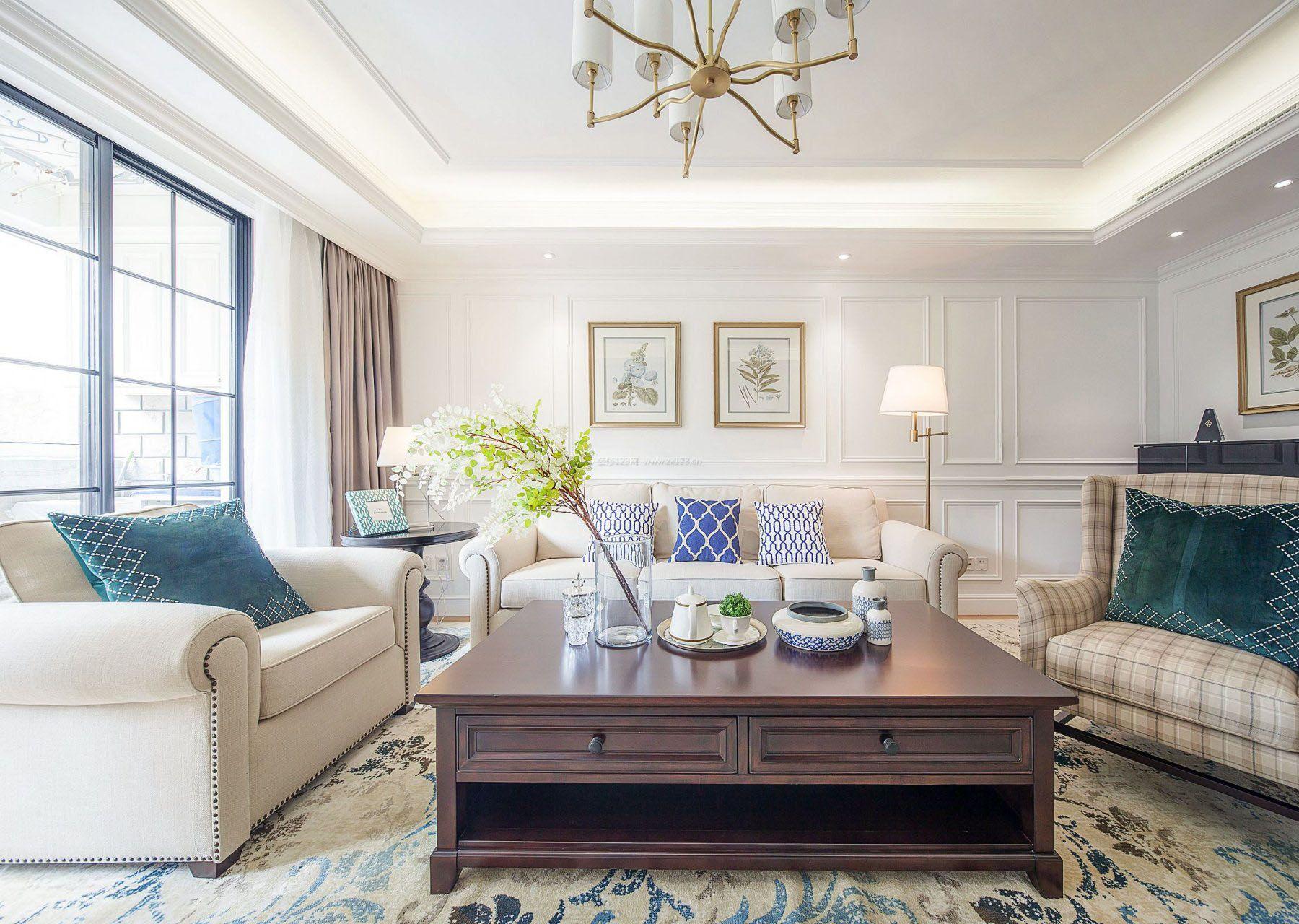 大户型样板房装修欧式客厅家具图片