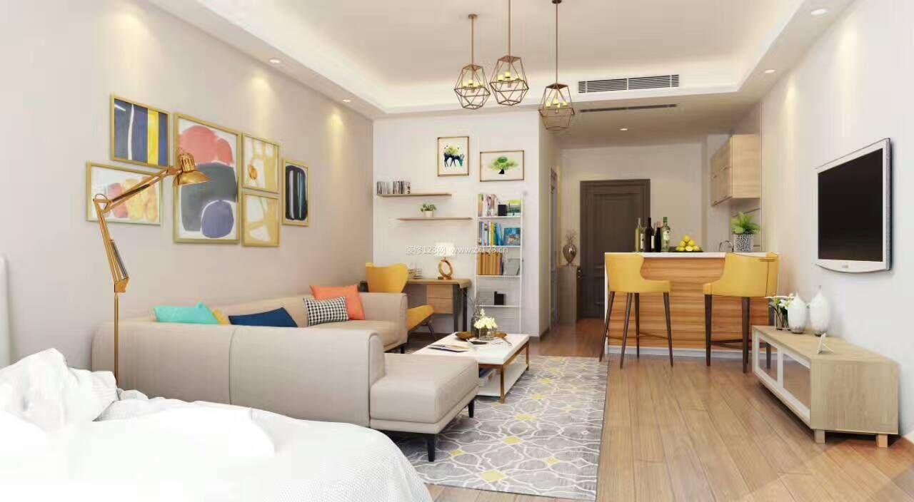 现代小户型一室一厅装修效果图片大全