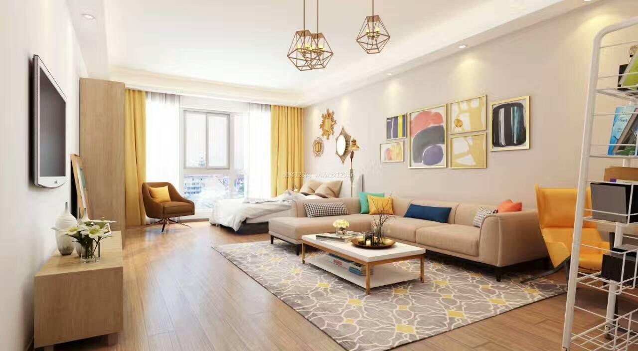 32平米小户型现代风格公寓式住宅装修效果图片