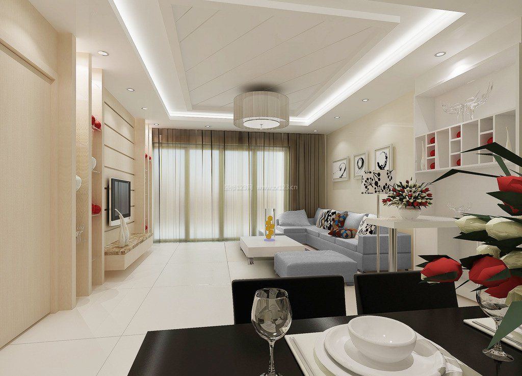 家装装修客厅吊顶造型效果图