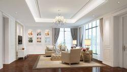 大戶型樣板房客廳沙發背景墻裝修