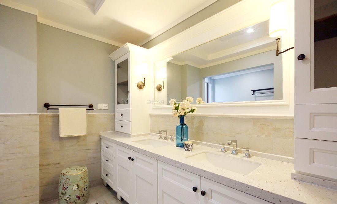 卫浴洗手台装修设计效果图片2017