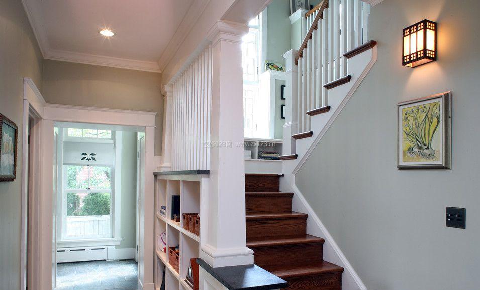 最新房屋室内楼梯间装修效果图片2017
