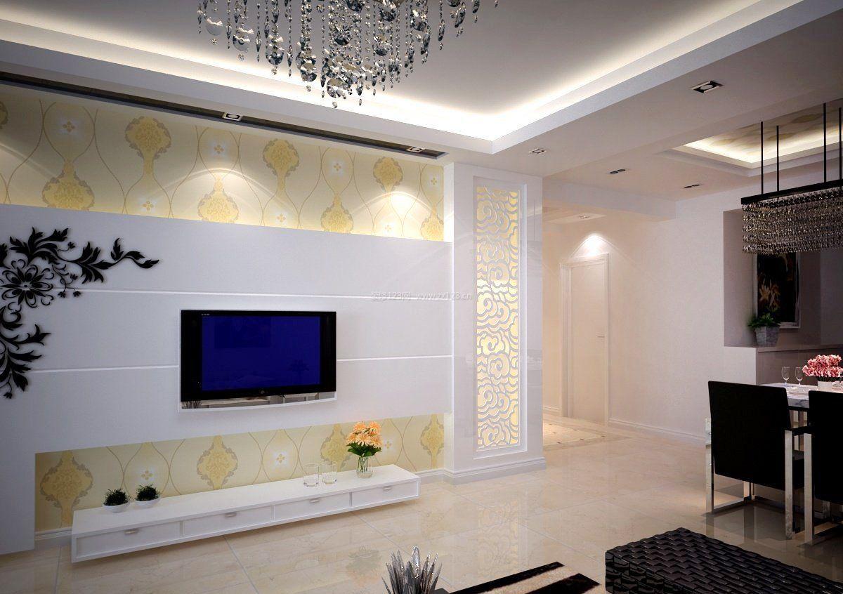 电视墙客厅室内装饰效果图
