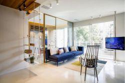 110平米現代簡約室內玻璃隔斷裝修效果圖