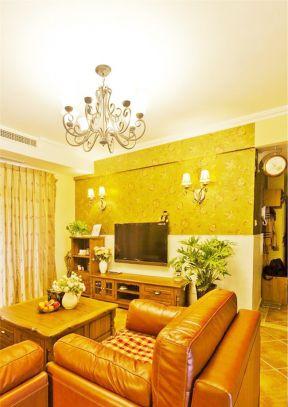 室内电视墙效果图田园-室内装修电视墙效果图