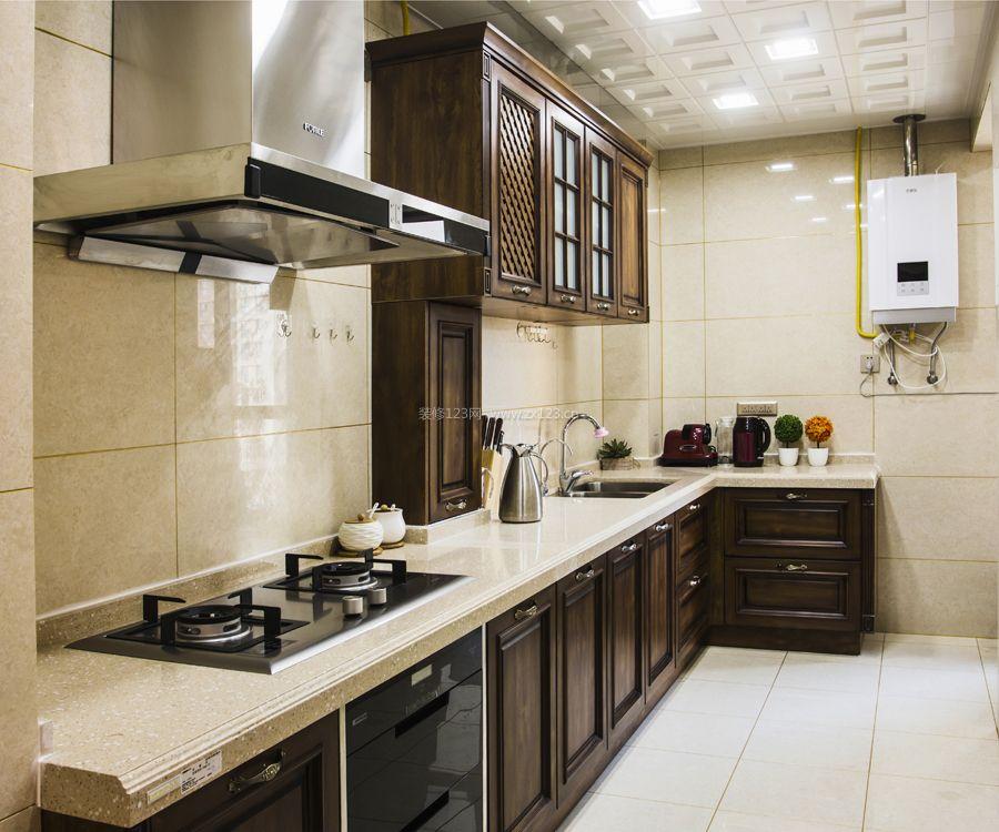 简约中式厨房吊顶装修效果图图片