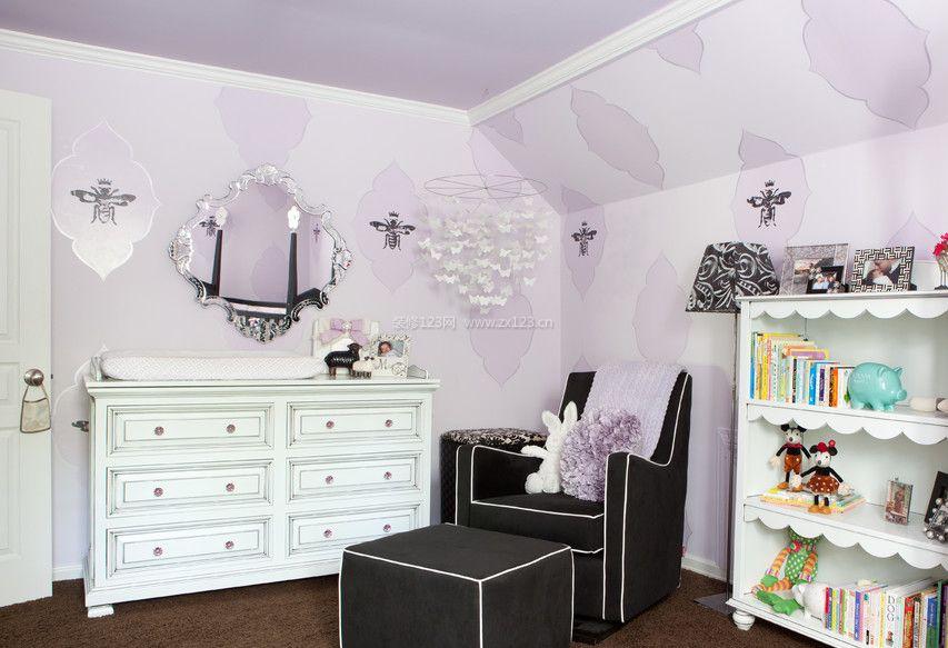 家庭室内木工做的梳妆台装修效果图片