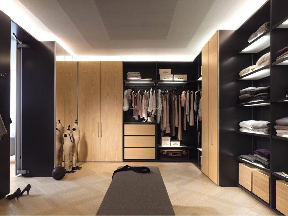 卧室衣帽间衣柜设计内部格局图片