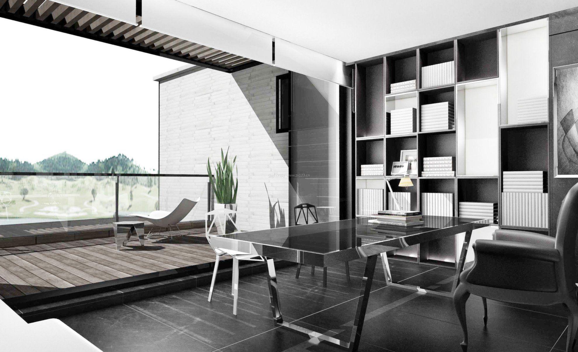 阳光房装修效果图黑白风格