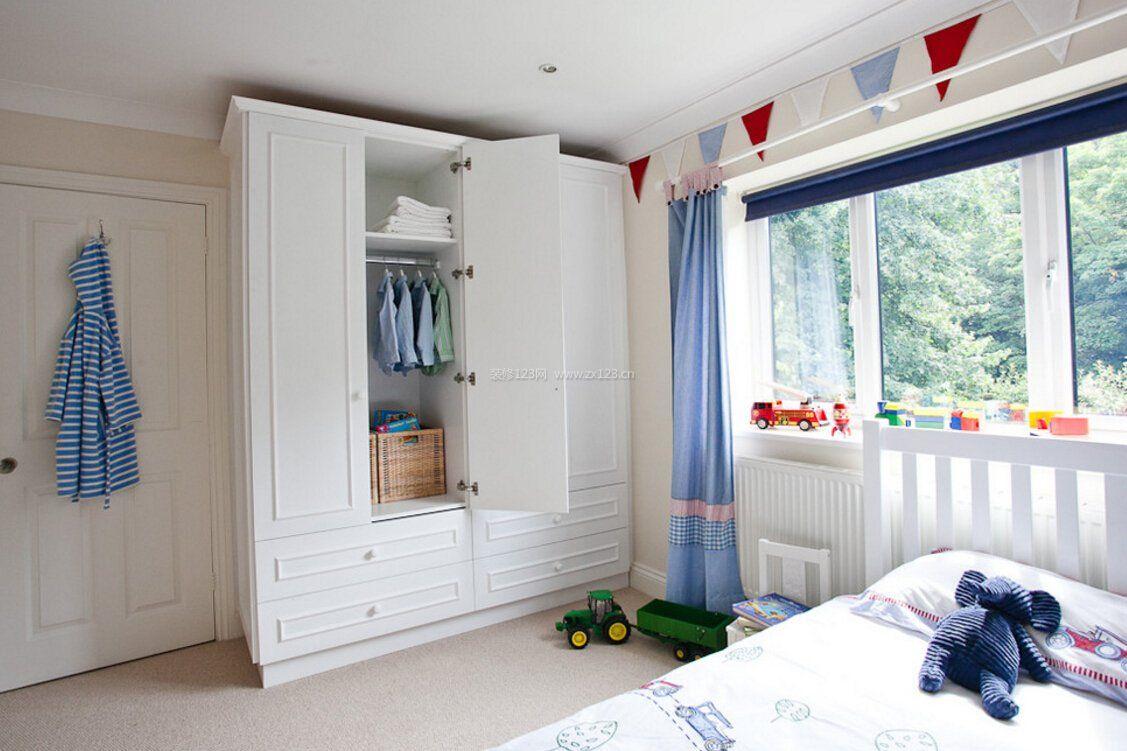 欧式儿童卧室衣柜内部格局装修效果图片