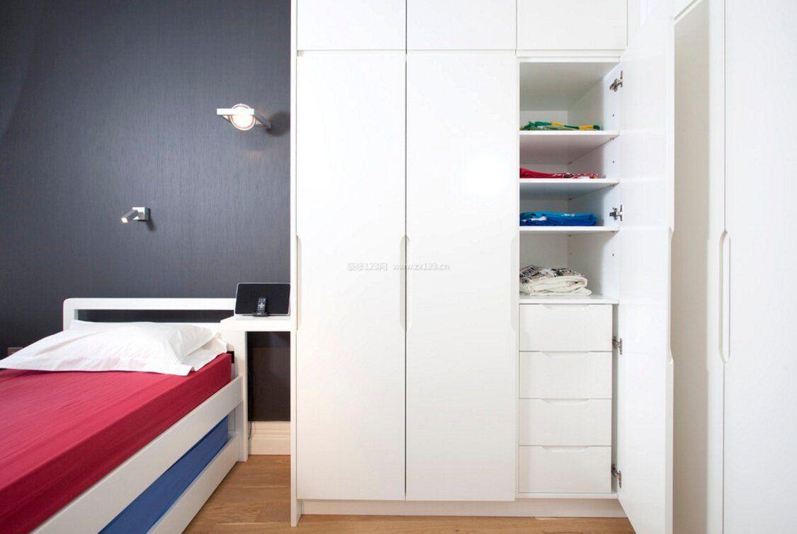 儿童卧室衣柜内部格局设计图片_装修123效果图