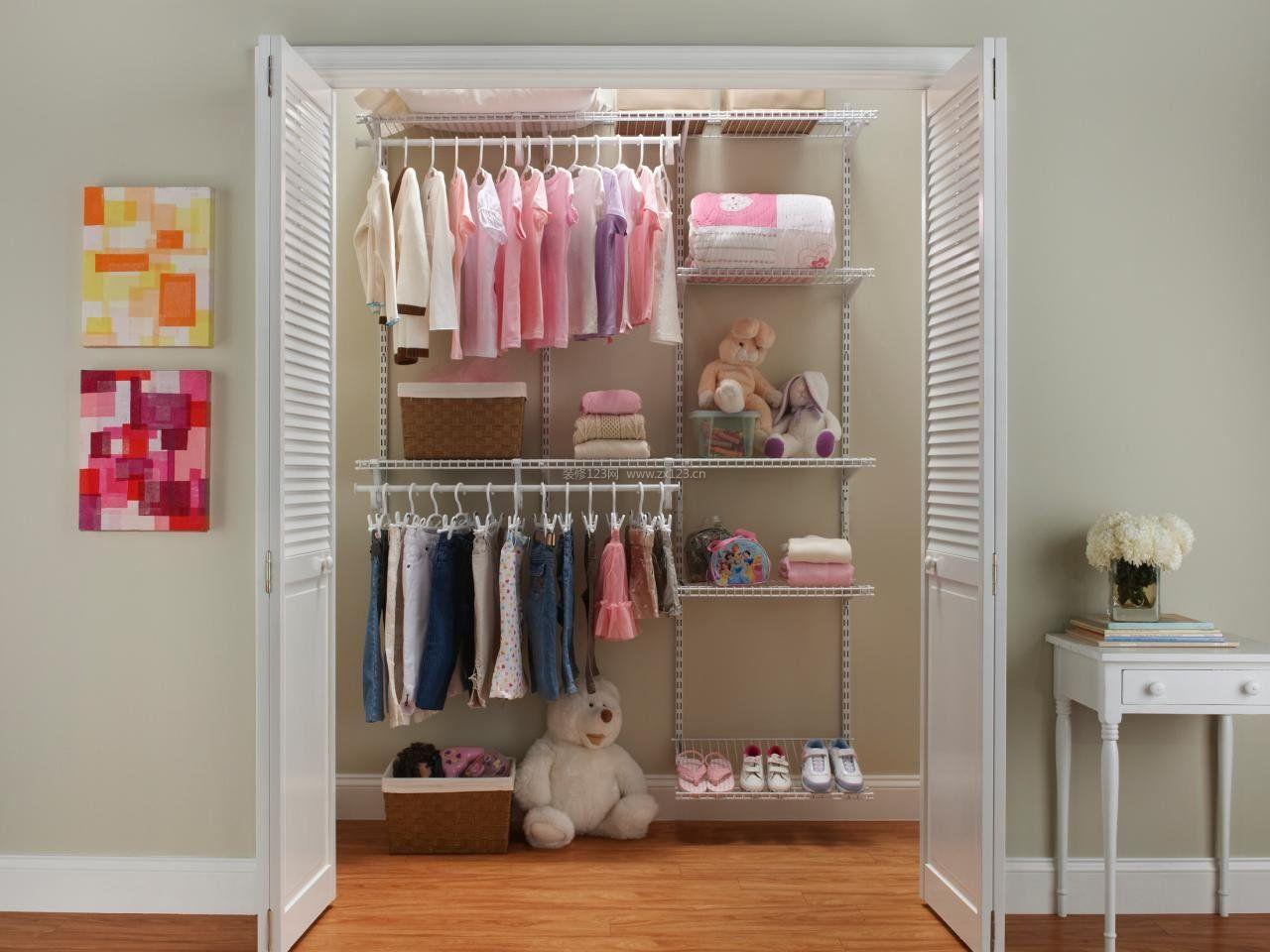 简易卧室衣帽间衣柜内部格局设计图片
