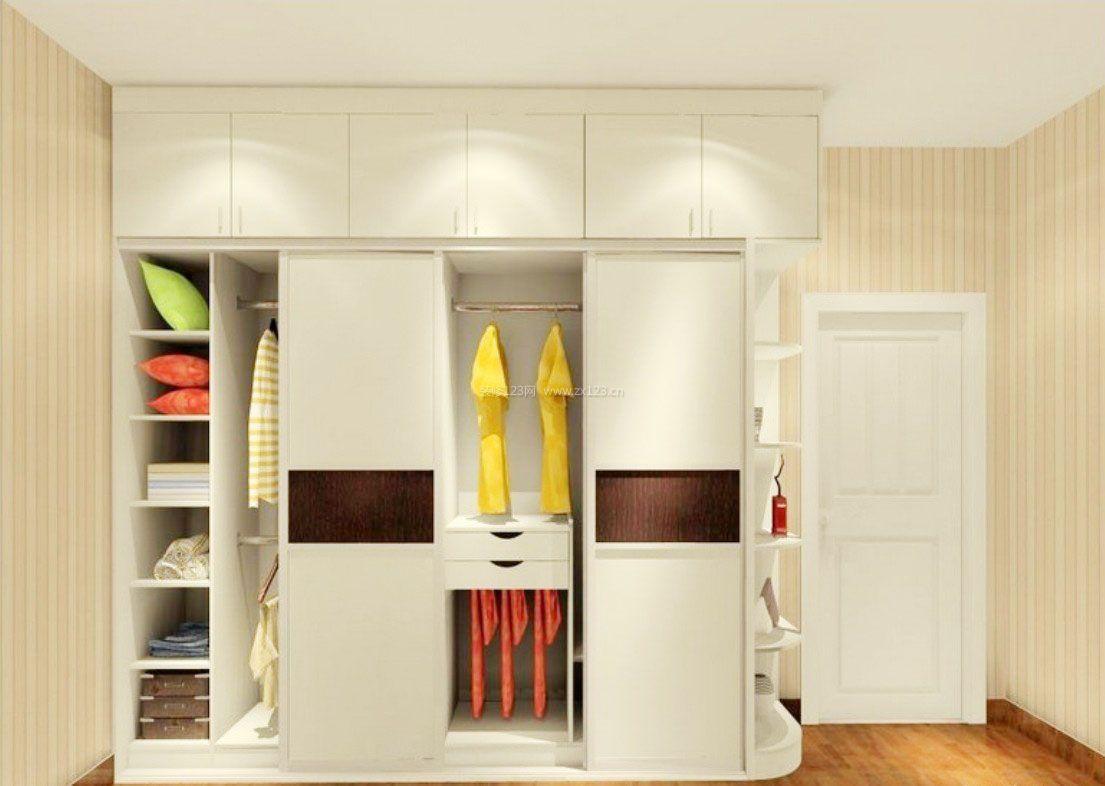 现代时尚装修卧室衣柜内部格局图片