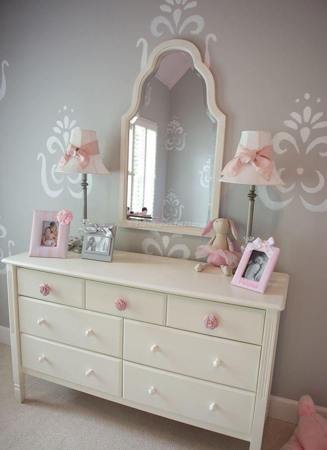 家庭室内木工做的梳妆台装修效果图片大全