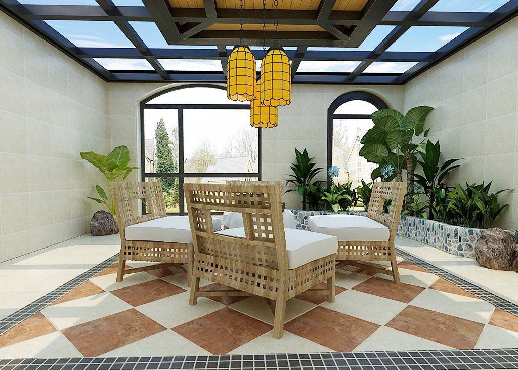 阳光房地砖装修效果图