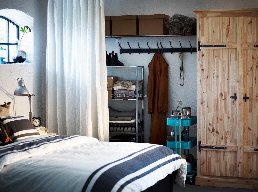 北欧风格卧室衣柜内部格局图片