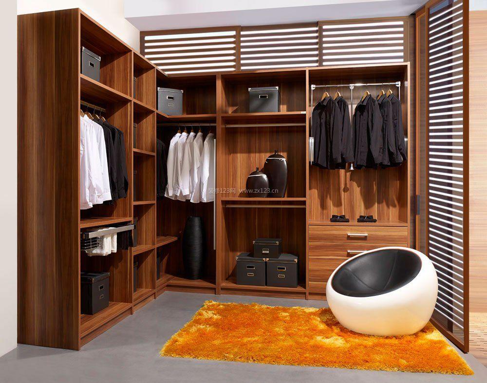 新房装修卧室衣柜内部格局效果图片