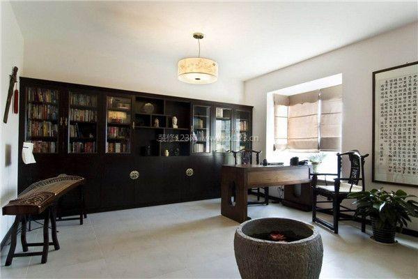 中式装修书房 让书房更添一抹书香_书房设计_装修123