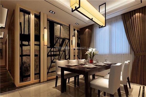 中式餐厅墙面装饰设计效果-中式餐厅装修技巧 中式餐厅应该怎样装修图片