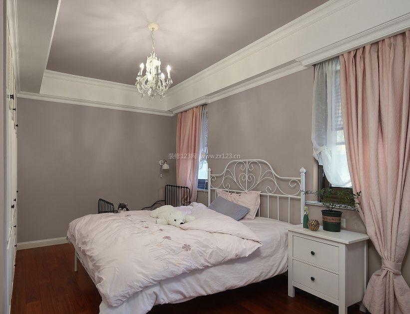 简单女孩房间纯色壁纸装修效果图片大全