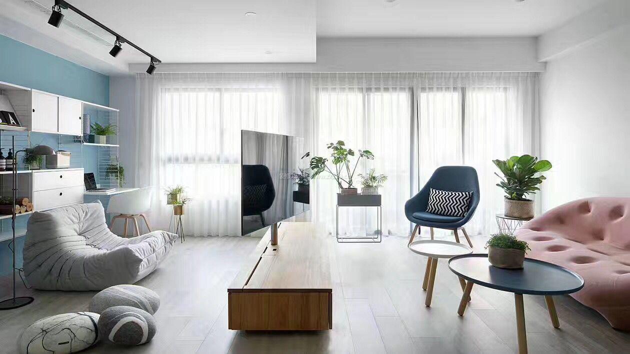北欧简约风格大客厅装修效果图片图片
